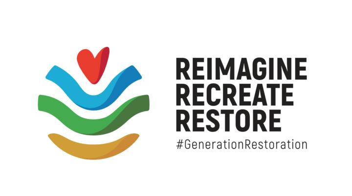 Reimagine Recreate Restore Slogan