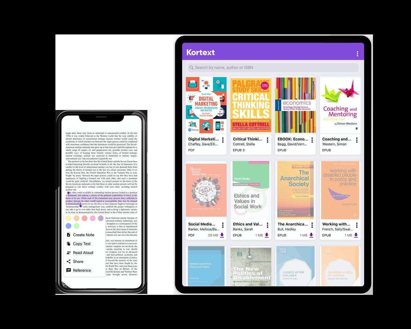 Home Page iPad and Phone Bookshelf Image