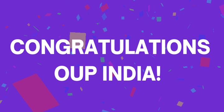 Congratulations OUP India Image