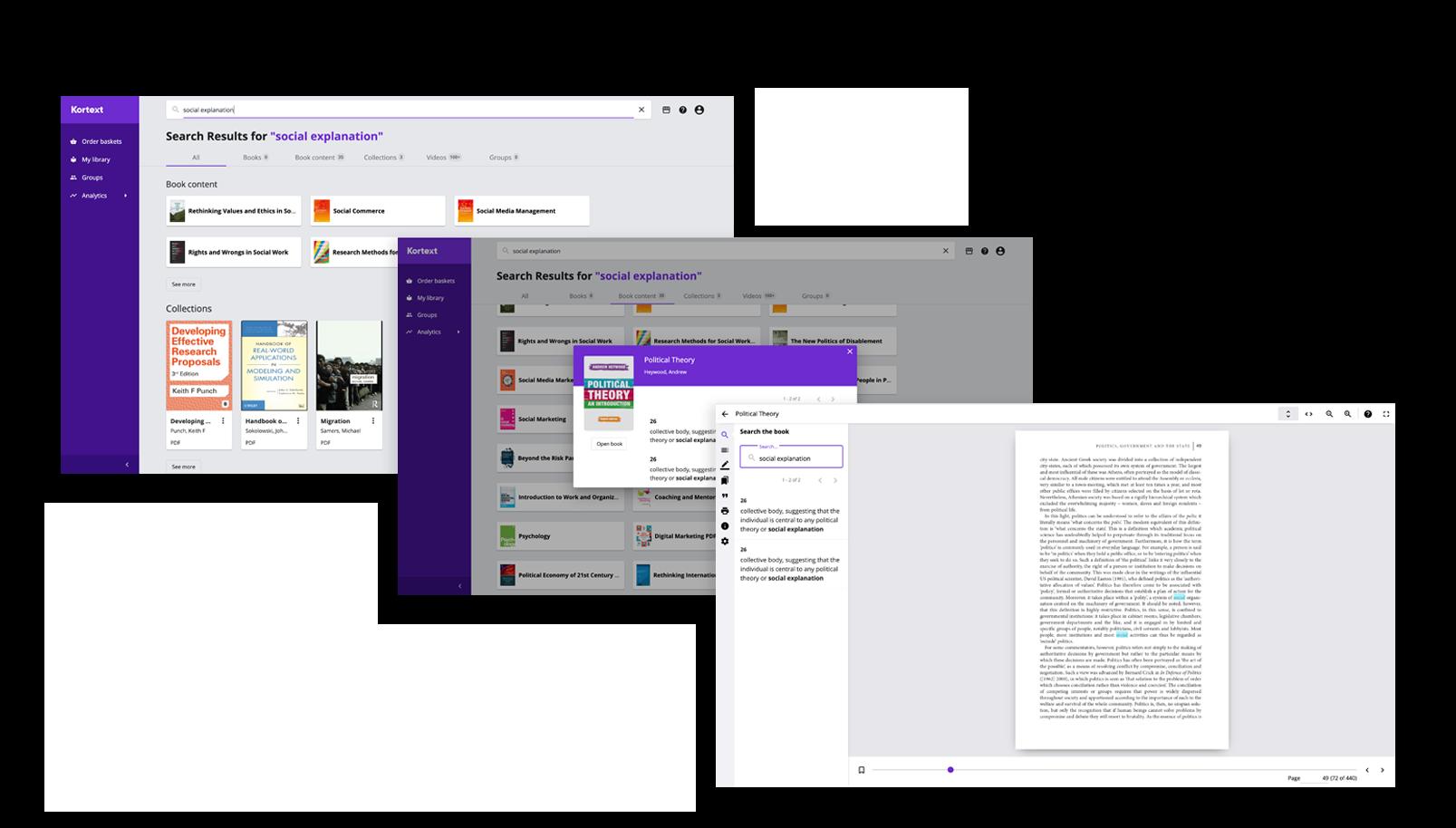 Search Screens Reader Screenshots
