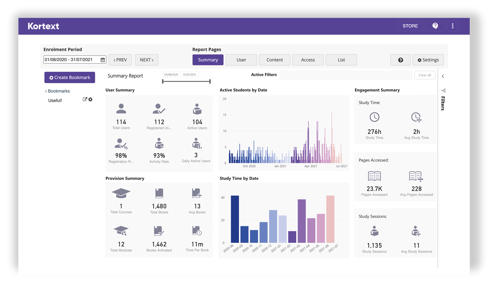Home Masthead Base Analytics Screenshot