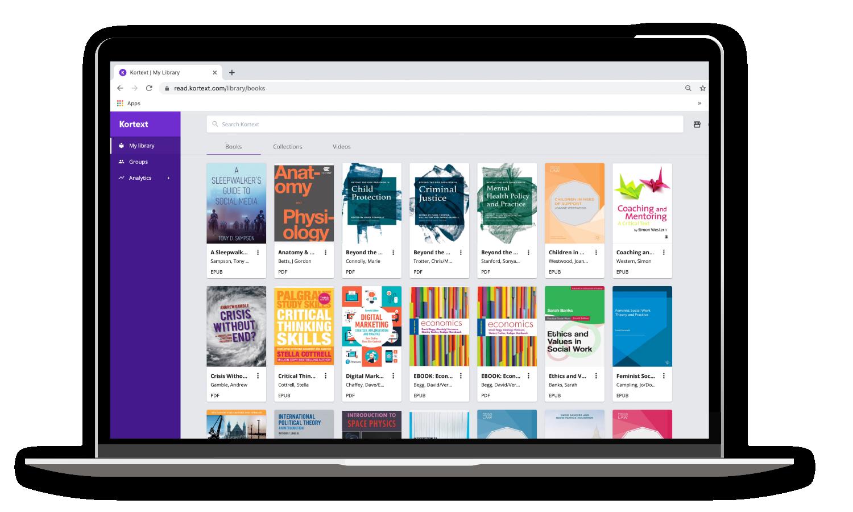 Laptop Masthead Float Academics bookshelf